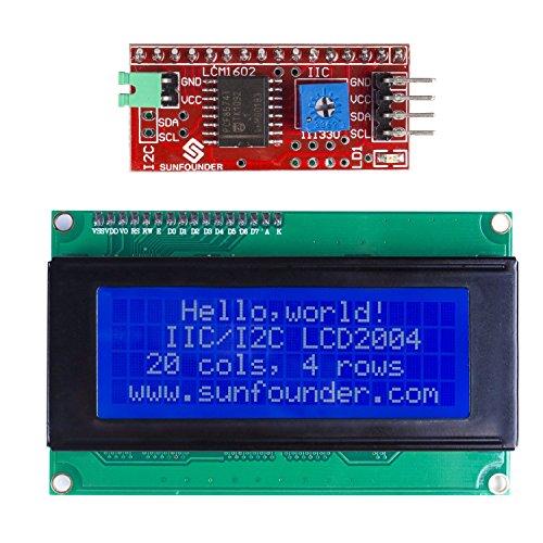 SunFounder IIC I2C TWI Serial 2004 20×4 LCD Module Shield for Arduino Uno Mega2560