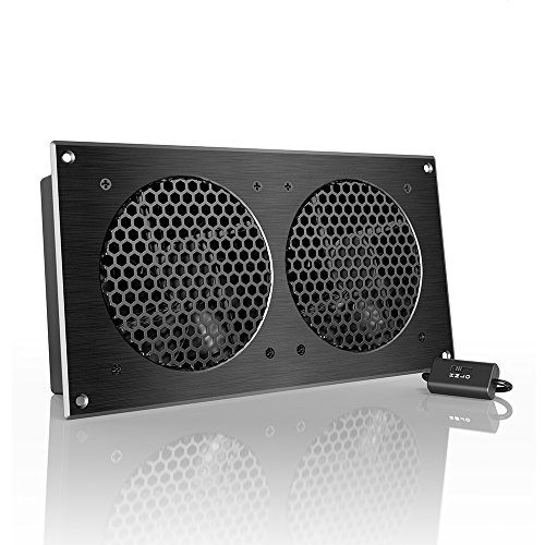 AC Infinity AIRPLATE S7, Quiet Cooling Fan System 12″ with Speed Control, for Home Theater AV Cabinets