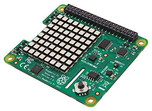 RASPBERRY-PI RASPBERRYPI-SENSEHAT Raspberry Pi Sense HAT with Orientation, Pressure, Humidity and Temperature Sensors