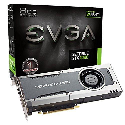 EVGA GeForce GTX 1080 GAMING, 8GB GDDRX, DX12 OSD Support PXOC Graphics Card 08G-P4-5180-KR