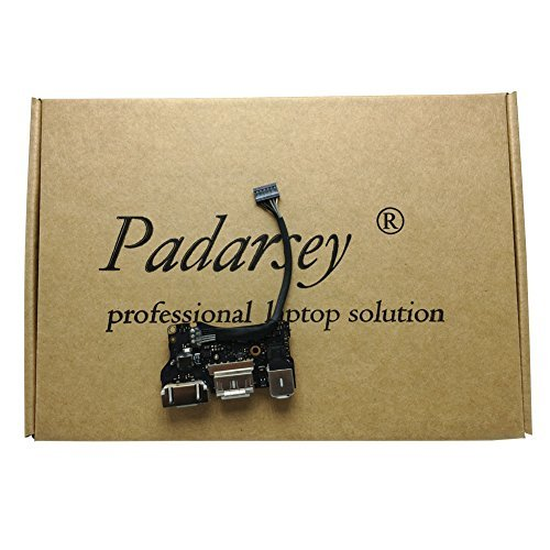 Padarsey New DC-IN Jack I/O Board fit for Apple MacBook Air 13″ A1466 MD760 820-3455-A Mid 2013, Early 2014