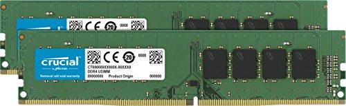 CT2K16G4DFD8266 – Crucial 32GB Kit 16GBx2 DDR4 2666 MT/s PC4-21300 DR x8 DIMM 288-Pin Memory