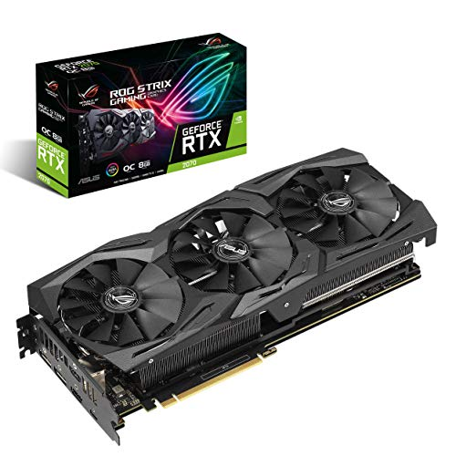 ASUS GeForce RTX 2070 Overclocked O8G GDDR6 HDMI DP 1.4 USB Type-C Graphic Card ROG-STRIX-RTX2070-O8G-GAMING
