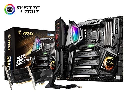 MSI MEG Z390 GODLIKE LGA1151 Intel 8th and 9th Gen M.2 USB 3.1 Gen 2 DDR4 Wi-Fi SLI CFX Extended ATX Z390 Gaming Motherboard