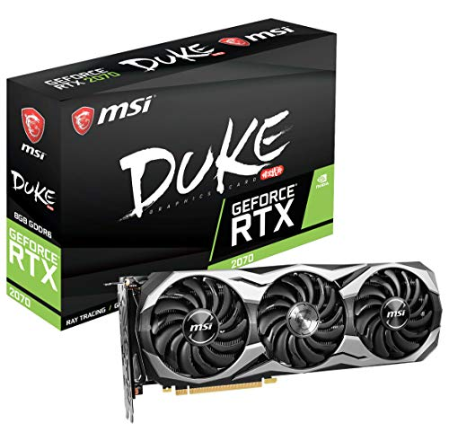 MSI Gaming GeForce RTX 2070 256-bit HDMI/DP/USB Ray Tracing Turing Architecture Graphics Card RTX 2070 Duke 8G OC