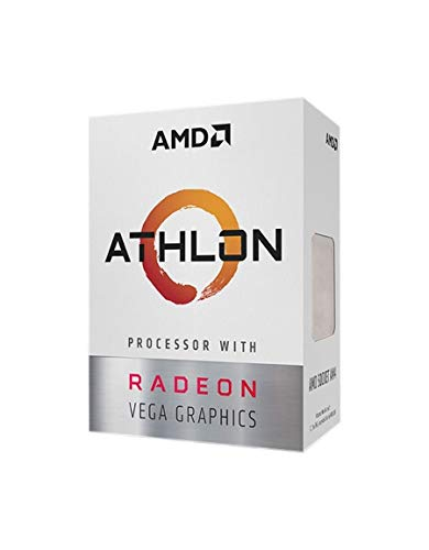 AMD Athlon 200GE 2-Core 4-Thread AM4 Socket Desktop Processor with Radeon Vega Graphics YD200GC6FBBOX