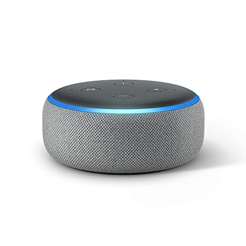 Heather Gray – All-new Echo Dot 3rd Gen – Smart speaker with Alexa