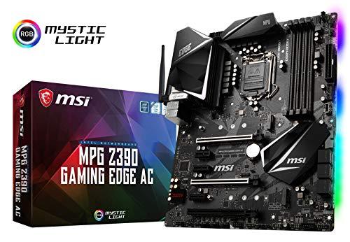 MSI MPG Z390 Gaming Edge AC LGA1151 Intel 8th and 9th Gen M.2 USB 3.1 Gen 2 DDR4 HDMI DP Wi-Fi SLI CFX ATX Z390 Gaming Motherboard