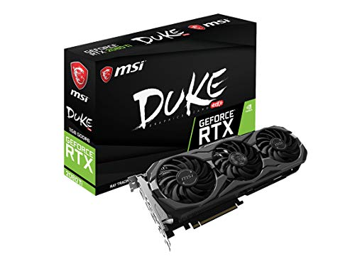 MSI Gaming GeForce RTX 2080 Ti 11GB GDRR6 352-bit VR Ready Graphics Card RTX 2080 Ti DUKE 11G OC