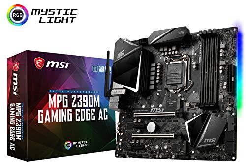 MSI MPG Z390M Gaming Edge AC LGA1151 Intel 8th and 9th Gen M.2 USB 3.1 Gen 2 DDR4 HDMI DP Wi-Fi SLI CFX Micro ATX Z390 Gaming Motherboard