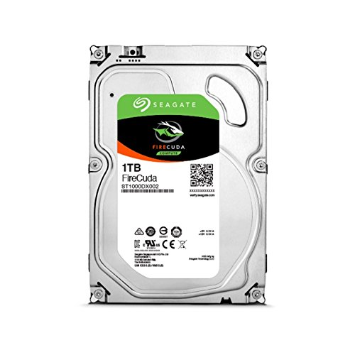 7200 RPM SATA 6Gb/s 64MB Cache 3.5-Inch Hard Drive ST1000DX002 – Seagate 1TB FireCuda Gaming SSHD Solid State Hybrid Drive