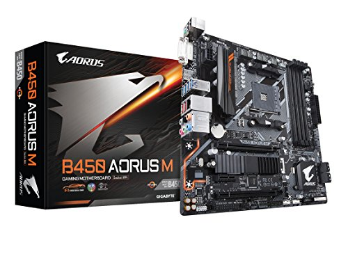 GIGABYTE B450 AORUS M AMD Ryzen AM4/M.2 Thermal Guard/HDMI/DVI/USB 3.1 Gen 2/DDR4/Micro ATX/Motherboard