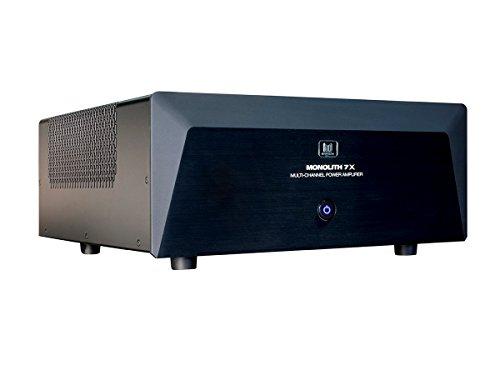 Monolith Multi-Channel Power Amplifier – Black With 7×200 Watt Per Channel, XLR Inputs For Home Theater & Studio