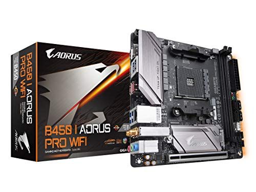 GIGABYTE B450 I AORUS PRO WiFi AMD Ryzen AM4 /M.2 Thermal Guard with Onboard WiFi/HDMI/DP/USB 3.1 Gen 2/Mini ITX/Motherboard