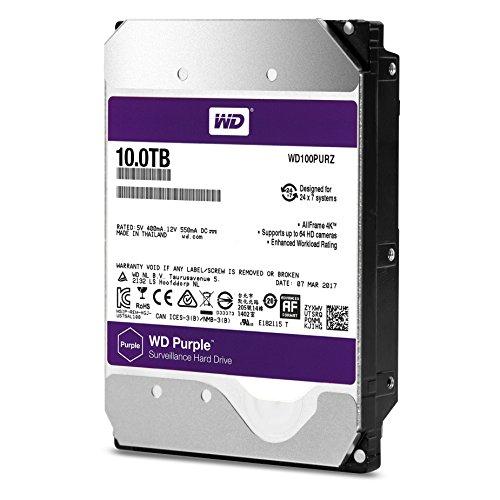 5400 RPM Class SATA 6 Gb/s 256MB Cache 3.5 – WD Purple 10TB Surveillance Hard Disk Drive – WD100PURZ