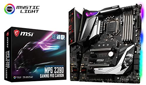 MSI MPG Z390 Gaming PRO Carbon LGA1151 Intel 8th and 9th Gen M.2 USB 3.1 Gen 2 DDR4 HDMI DP SLI CFX ATX Z390 Gaming Motherboard