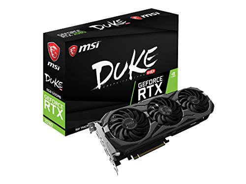 MSI Gaming GeForce RTX 2080 8GB GDRR6 256-bit VR Ready Graphics Card RTX 2080 DUKE 8G OC