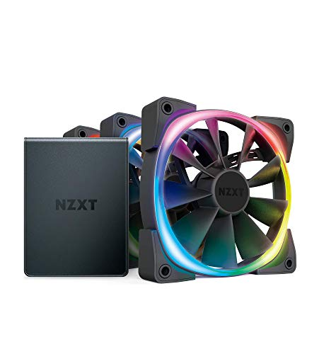 Nzxt AER RGB 2 120mm Case Fans Triple Starter Pack with Hue 2 Black HF-2812C-T1