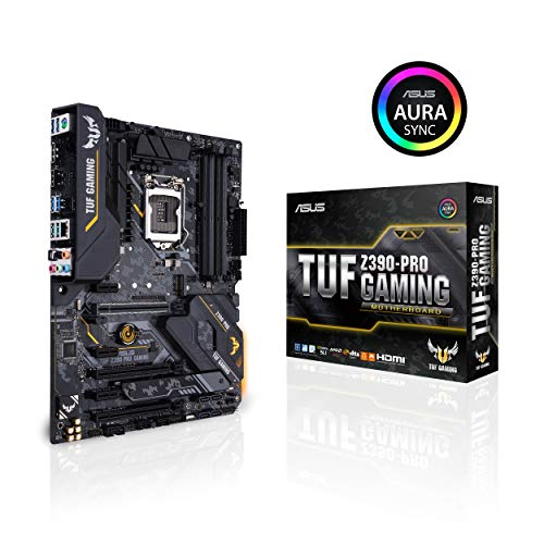 ASUS TUF Z390-Pro Gaming LGA1151 Intel 8th and 9th Gen ATX DDR4 HDMI M.2 USB 3.1 Gen2 Gigabit LAN Motherboard