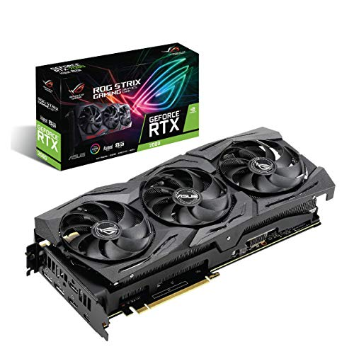 ASUS ROG Strix GeForce RTX 2080 A8G GDDR6 HDMI DP 1.4 USB Type-C ROG Strix RTX-2080-A8G Graphic Cards ROG-STRIX-RTX2080-A8G-GAMING