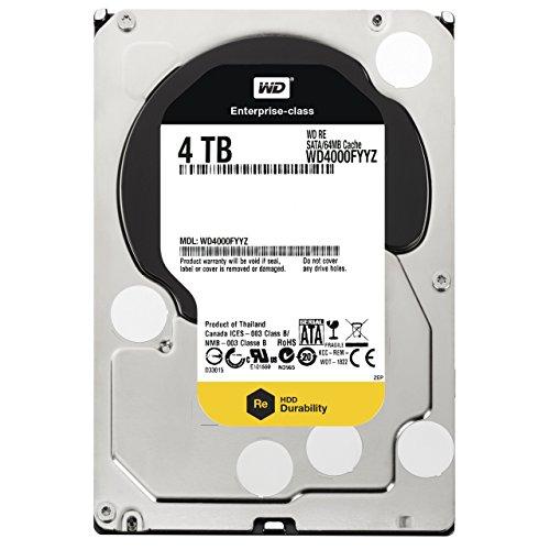 WD  4TB 3.5 Inch SATA III, 7200 RPM, 64 MB Cache Enterprise Hard Drive WD4000FYYZ Certified Refurbished