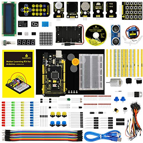 KEYESTUDIO Mega 2560 Starter Kit for Arduino, STEM Educational Gifts for Boys and Girls