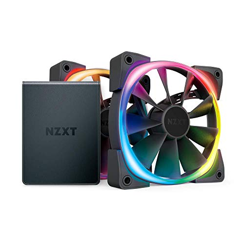 Nzxt AER RGB 2 120mm Case Fans Twin Starter Pack with Hue 2 Black HF-2812C-D1