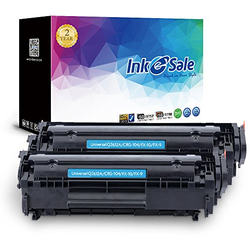 INK E-SALE Compatible Toner Cartridge for HP 12A Q2612A Canon CGR 104 Black, 2-Pack, use for HP Laserjet 1020 1022 1022n 3015 1012 1010 1015 Cannon ImageClass D450 D420 D480 MF4270 MF 4350d Printer