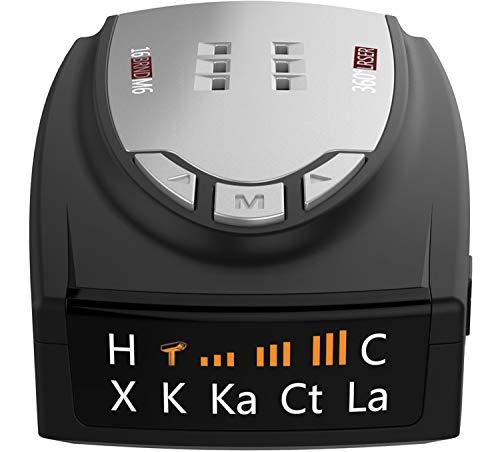 Radar Detectors for Cars, 360 Degree Detection with Voice Alert, Performance City/Highway Mode Cop Radar Detector
