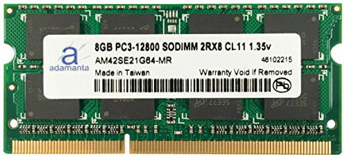 Adamanta 8GB 1x8GB Laptop Memory Upgrade DDR3/DDR3L 1600Mhz PC3L-12800 SODIMM 2Rx8 CL11 1.35v Notebook RAM DRAM