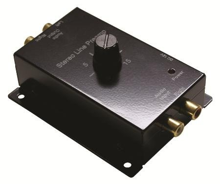 STEREO LINE PRE-AMPLIFIER, 15DB, 12VDC