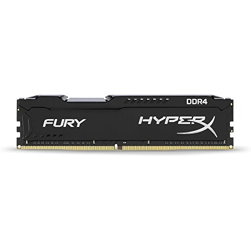 Kingston Technology HyperX Fury Black 8GB 2666MHz DDR4 CL16 DIMM 1Rx8 HX426C16FB2/8