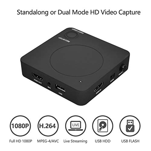 NexTrend HDMI Cloner Box Pro, HDMI Grabber Capture 1080p HDMI Videos/Games and Play Back Instantly with The Remote Control, Schedule Recording, HDMI/VGA/AV/YPbPr Input. No PC Required.