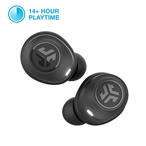 Class 1 Bluetooth 5.0 Connection – JLab Audio JBuds Air True Wireless Signature Bluetooth Earbuds + Charging Case – IP55 Sweat Resistance – 3 EQ Sound Settings: JLab Signature, Balanced, Bass Boost