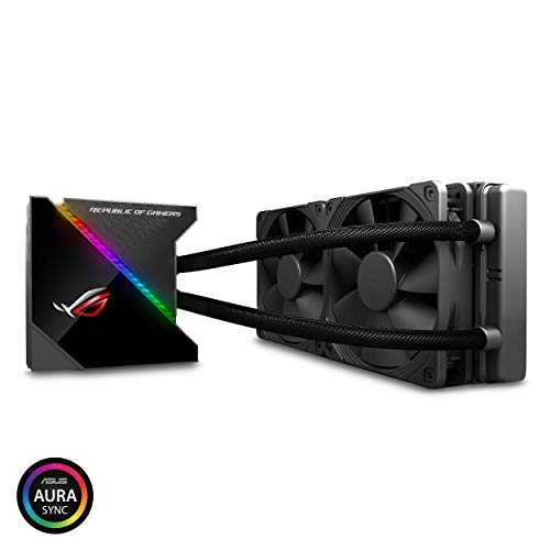 ASUS ROG Ryujin 240 RGB AIO Liquid CPU Cooler 240mm Radiator Dual 120mm 4-pin Noctua iPPC PWM Fans with LIVEDASH OLED Panel and FanXpert Controls