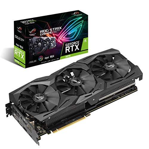 ASUS GeForce RTX 2070 Advanced A8G GDDR6 HDMI DP 1.4 USB Type-C Graphic Card ROG-STRIX-RTX2070-A8G-GAMING