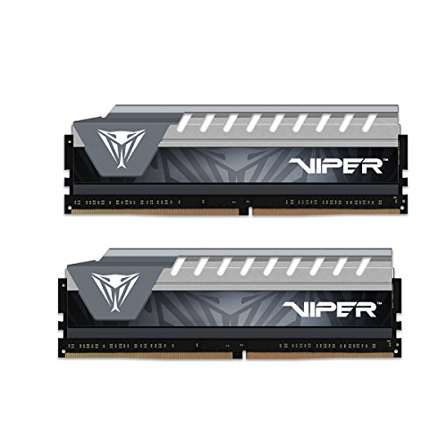 Patriot Viper Elite Series DDR4 32GB 2x16GB 2666MHz PC4-21300 Dual Memory Kit Black/Grey