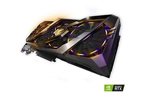 Gigabyte AORUS GeForce RTX 2080 8G GDDR6 DisplayPort 1.4 HDMI 2.0B USB Type-C with Windforce Stack 3X 100mm Fan Cooling System RGB Graphic Cards- GV-N2080AORUS-8GC