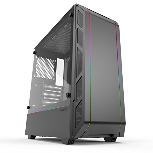 Phanteks Eclipse P350X PH-EC350PTG_DBW Compact EATX Mid-Tower Case, Tempered Glass, Digital RGB, Black/White
