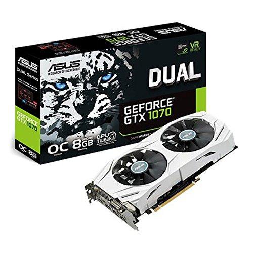 ASUS Dual GEFORCE GTX 1070 8GB OC Computer Graphics Card – PCI-E G-Sync 4K and VR Ready GPU