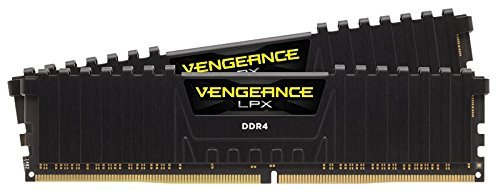 Black PC Memory CMK16GX4M2D3000C16 – Corsair Vengeance LPX 16GB 2 X 8GB DDR4 3000 PC4-24000 C16 1.35V Desktop Memory