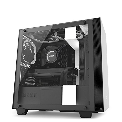 NZXT H400i – Tempered Glass Panel – CAM-Powered Smart Device – MicroATX PC Gaming Case – RGB Lighting and Fan Control – Enhanced Cable Management System – Water-Cooling Ready – White/Black