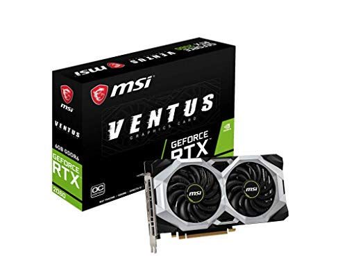 MSI Gaming GeForce RTX 2060 192-bit HDMI/DP Ray Tracing Turing Architecture Graphics Card RTX 2060 VENTUS 6G OC