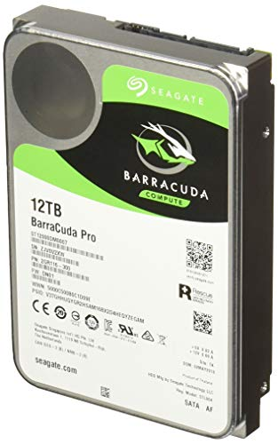 Seagate BarraCuda Pro SATA HDD 12TB 7200RPM 6Gb/s  256MB Cache 3.5-Inch Internal Hard Drive for PC/ Desktop Computers System All in One Home Servers Direct Attached Storage DAS ST12000DM0007