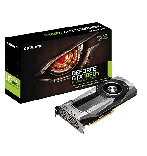 Gigabyte Geforce GTX 1080 Ti Founders Edition Video Card GV-N108TD5X-B