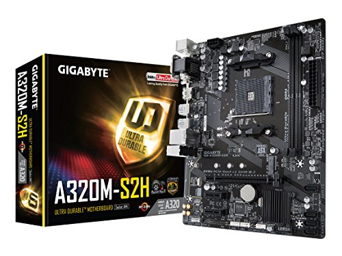 GIGABYTE GA-A320M-S2H AMD Ryzen AM4 / MicroATX / 2xDDR4/ HDMI/ Realtek ALC887/ 3xPCIe/ USB3.1 Gen 1/ LAN/ Motherboard