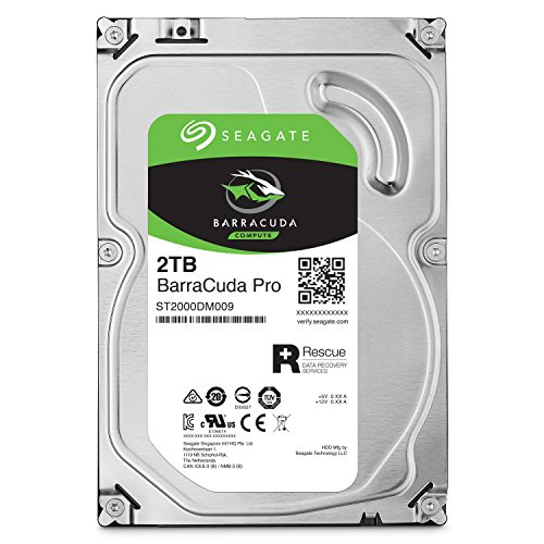 Seagate BarraCuda Pro SATA HDD 2TB 7200RPM 6Gb/s  256MB Cache 3.5-Inch Internal Hard Drive for PC/ Desktop Computers System All in One Home Servers Direct Attached Storage DAS ST2000DM009