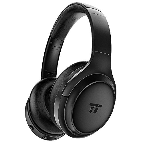 TaoTronics Active Noise Cancelling Headphones 2019 Upgrade Bluetooth Headphones Over Ear Headphones Hi-Fi Sound Deep Bass, Quick Charge, 30 Hours Playtime for Travel Work TV PC Cellphone