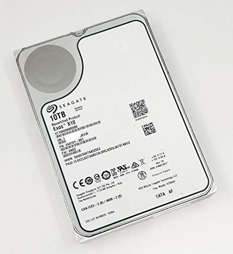Seagate Exos x10 10TB SATA 6Gb/s 256MB Cache Enterprise Hard Drive 3.5″ ST10000NM0086 Certified Refurbished