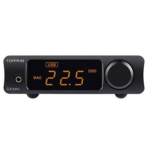 Topping DX3 Pro Headphone Amplifier DAC DSD512 PCM32bit/768kHz XMOS XU208 APTX USB Bluetooth Decoder Headphone Amplifier Black